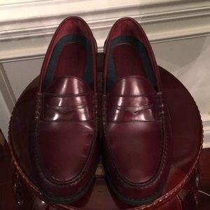Men size 11 1/2 wide leather upper Rockport loafer